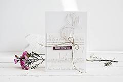 - Gratulačný pozdrav - kvety magnólie - 10567867_