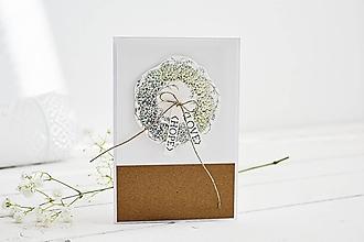Papiernictvo - Svadobný pozdrav - venček z eukalyptu II - 10567853_