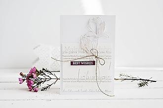 Papiernictvo - Gratulačný pozdrav - kvety magnólie - 10567867_