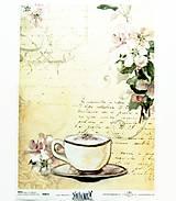 Papier - Ryžový papier na decoupage -A4-R872- tea time, vintage - 10566783_