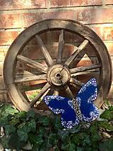 Dekorácie - Dekoratívny motýľ kvietkový - 10568266_