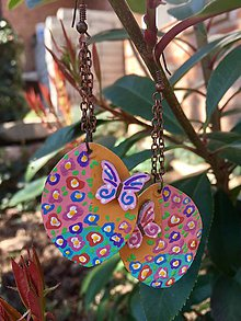 Náušnice - Motýliky na lúke - 10568490_