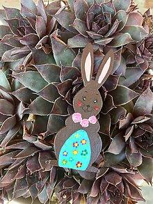 Magnetky - Veľkonočné zajačiky - magnetky (Hnedá) - 10568720_