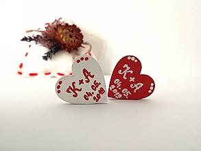 Darčeky pre svadobčanov - Na ľudovú nôtu - darčeky pre svadobných hostí (Červená) - 10566932_