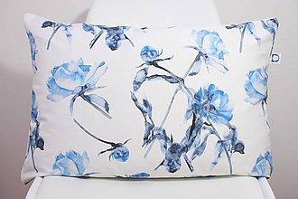 Úžitkový textil - FLORAL akvarelová obliečka - Pivónia II. - 10568934_