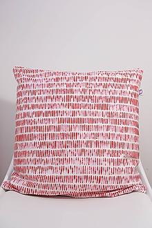 Úžitkový textil - Akvarelová obliečka - SCARLET čiarky - 10568938_