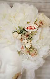 Ozdoby do vlasov - Romantická XXL svadobná parta - 10568903_