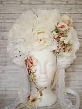 Ozdoby do vlasov - Romantická XXL svadobná parta - 10568905_