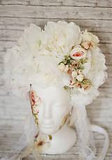 Ozdoby do vlasov - Romantická XXL svadobná parta - 10568906_