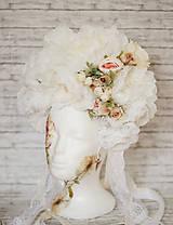 Ozdoby do vlasov - Romantická XXL svadobná parta - 10568908_