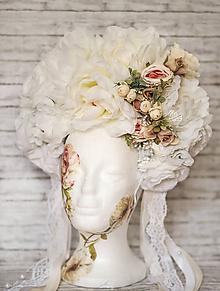Ozdoby do vlasov - Romantická XXL svadobná parta - 10568910_