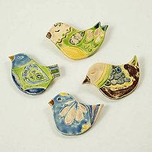 Odznaky/Brošne - Brošňa keramická vtáčik č.3 - rôzne - 10568426_