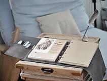 Papiernictvo - Kombinovaný kožený zápisník BRITT - 10567372_
