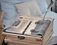 Papiernictvo - Kombinovaný kožený zápisník BRITT - 10567376_