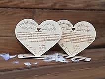 Darčeky pre svadobčanov - Poďakovanie rodičom - 10568391_