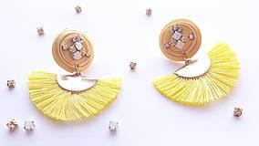 Náušnice - Žlté náušnice slnko - 10566919_