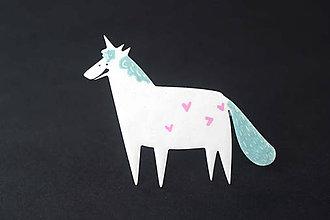 Odznaky/Brošne - jednorožec unicorn - 10567520_