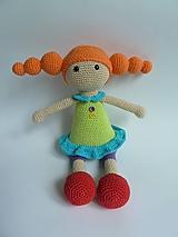 Hračky - Slečna Copíková I Háčkovaná bábika - 10568886_