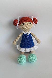 Hračky - Slečna Copíková I Háčkovaná bábika (Modrá) - 10568893_