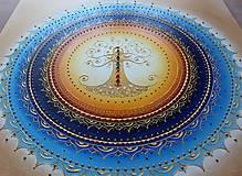 Obrazy - STROM ŽIVOTA (blue) 60 x 60 - 10566889_