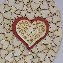 Drobnosti - Srdiečko magnetka (svadobný  - vlastný návrh) - 10567399_