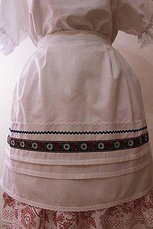 Iné oblečenie - Svadobná zásterka... (Modrá) - 10568048_