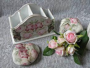 Pomôcky - Romantický stojánek vintage roses - 10568144_