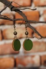Náušnice - Náušnice zelené - 10568520_