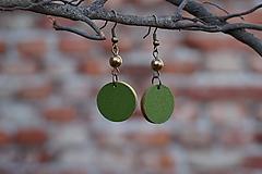 Náušnice - Náušnice zelené - 10568523_