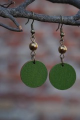Náušnice - Náušnice zelené - 10568525_