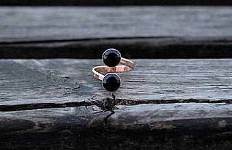 Prstene - Pozlátený prsteň zo striebra Kremeň - 10567822_