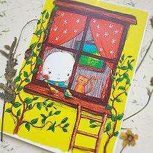 Kresby - Miško v okne - 10568871_