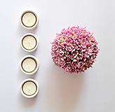 Svietidlá a sviečky - Svietnik na čajovku - zero waste - 10566698_