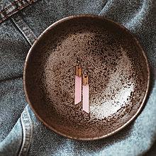 Náušnice - Náušničky - kryštáliky (Ružová) - 10567090_