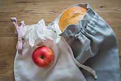 Úžitkový textil - Ľanové vrecúško - 10568536_