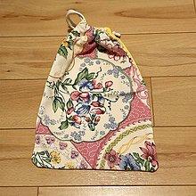 Úžitkový textil - Zero wate malé vrecúško  (Rúžové kvety) - 10566731_