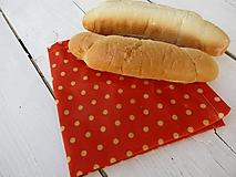 Úžitkový textil - voskovaný obrúsok XL-oranžový - 10566553_