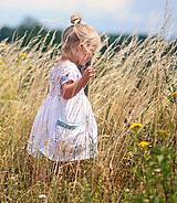 Detské oblečenie - Lněné šatičky  Luční kvítí - 10567182_