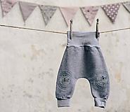 Detské oblečenie - Šedé melé - klučičí - 10567525_