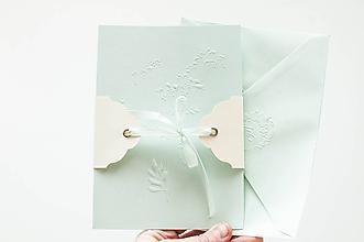 Papiernictvo - Jemný pozdrav / mint - 10566848_