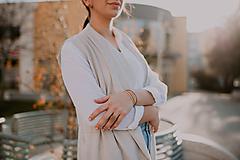Prstene - BUTTON S matný béžový prsteň - 10567326_