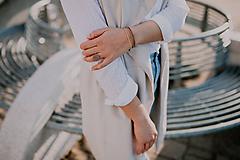 Prstene - BUTTON S matný béžový prsteň - 10567328_