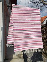 Úžitkový textil - ružový koberec - 10570065_