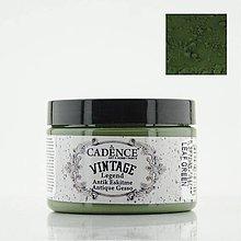 Farby-laky - Antické gesso Vintage legend VL-07 zelená listová - 10570843_
