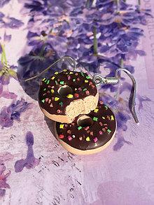 Náušnice - Náušnice donuty čokoládové - 10571498_