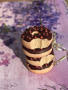 Náušnice - Náušnice donuty čokoládové - 10571519_