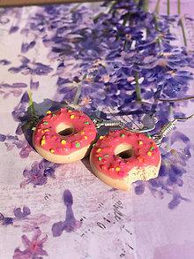 Náušnice - Náušnice donuty jahodové - 10571525_