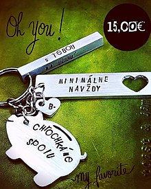 Kľúčenky - CHROCHKÁME spolu :) MIX 3 plieškov - 10569437_