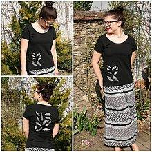 Nohavice - Čiernobiele kombinovanie...ZĽAVA! - 10570883_