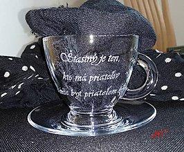 Nádoby - Gravírovaná šálka na kávu - 10571195_